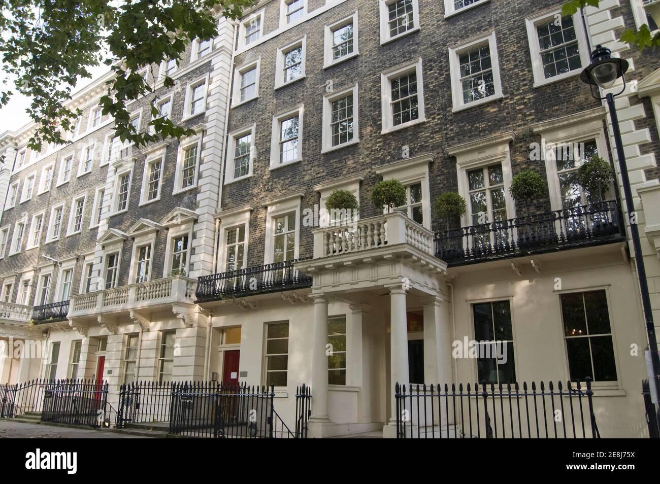 Lytton Strachey (1880 - 1932) vivait dans cette maison historique de Gordon Square, Bloomsbury, Londres. Les voisins de Strachey comprenaient Virginia Woolf et Othe Banque D'Images