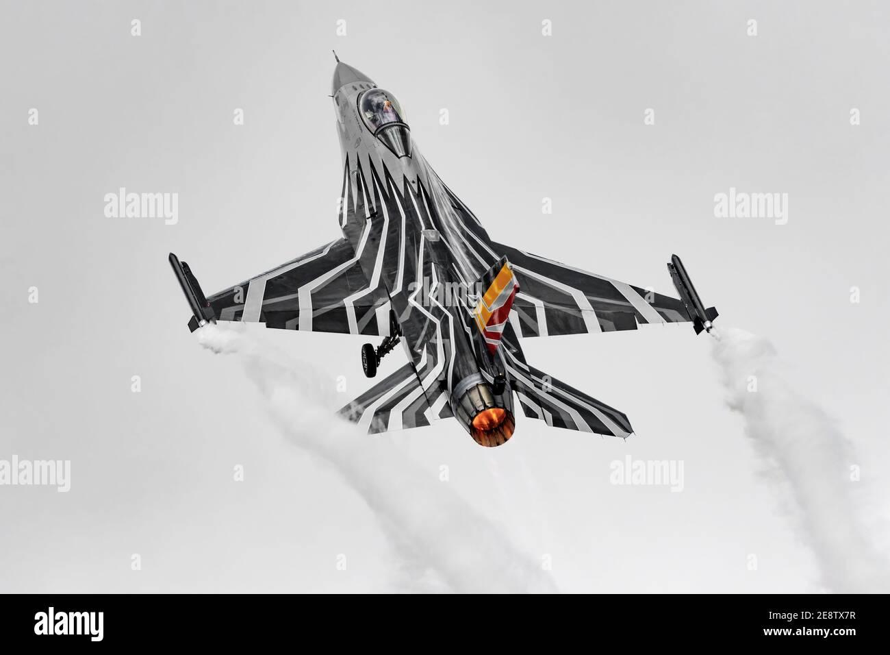 Lockheed Martin F16 Faucon de combat de l'armée de l'air belge Banque D'Images