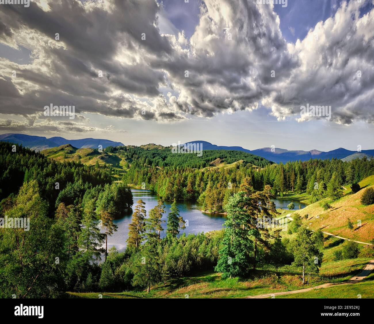 Fr - CUMBRIA: Tarn Hows dans le Parc National de Lake District Banque D'Images