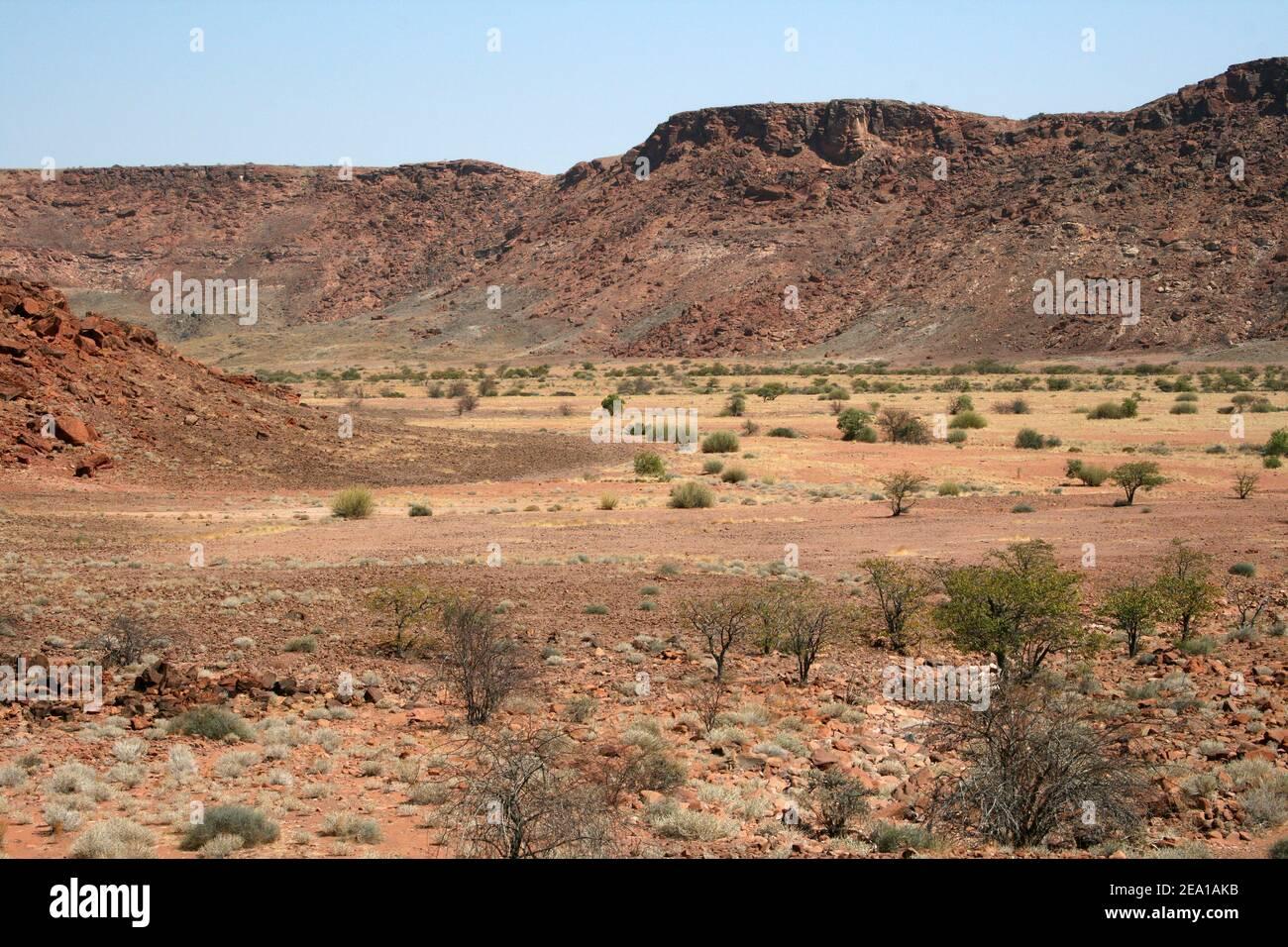 Vallée de la rivière Huab, Twyfelfontein, région de Kunene, Namiba Banque D'Images