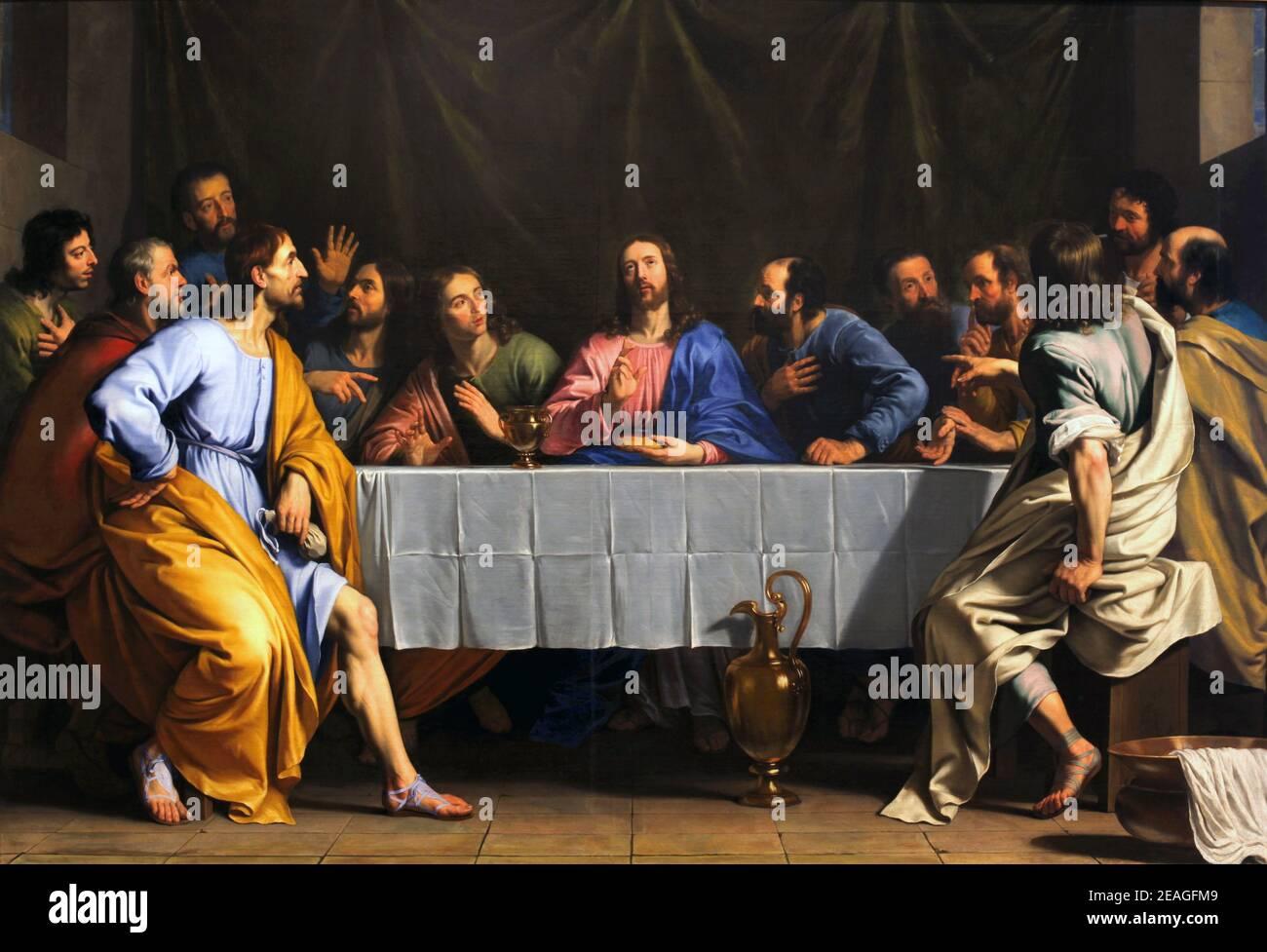 La Cène, par Philippe de Champaigne Banque D'Images