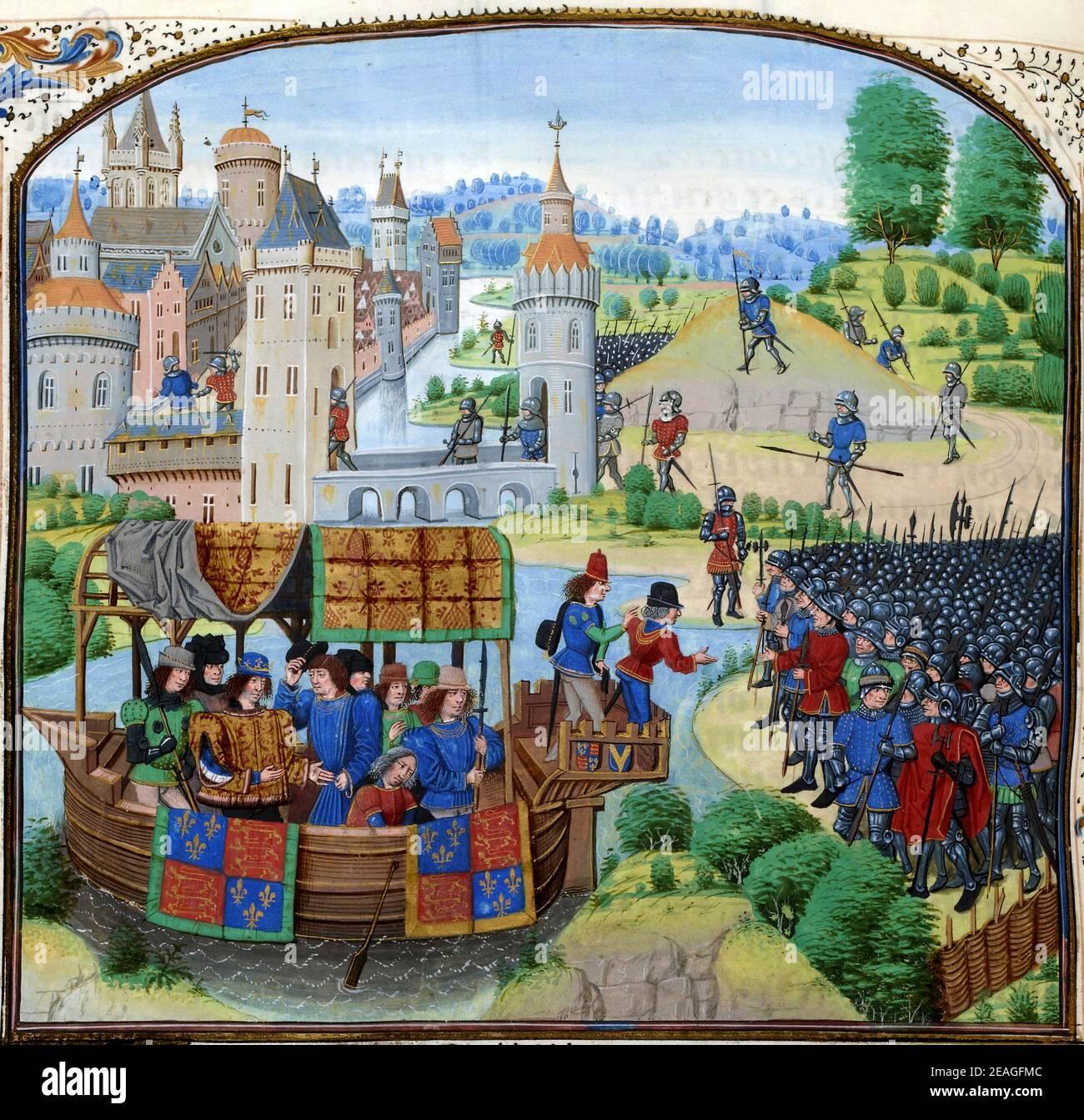 La révolte des paysans, également appelée rébellion de Wat Tyler ou Grande Rising, fut un soulèvement majeur dans de grandes parties de l'Angleterre en 1381. Banque D'Images