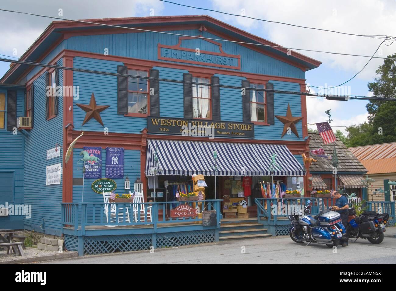 les magasins du village à weston vermont Banque D'Images