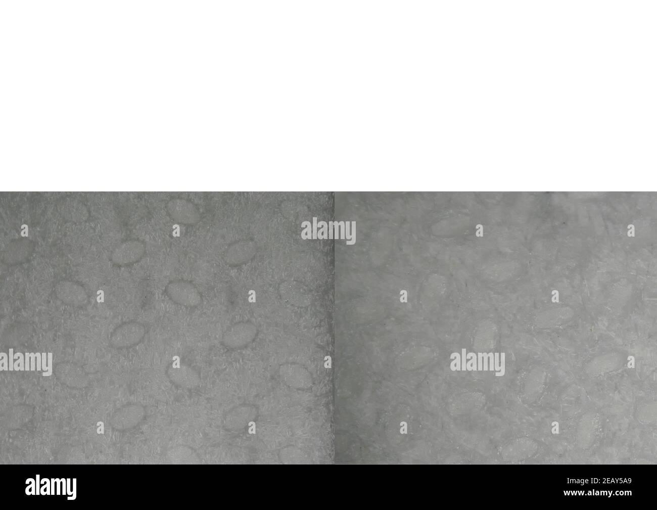 Masque médical, vue microscopique des tissus, masque gauche, masque droit FFP2 Banque D'Images
