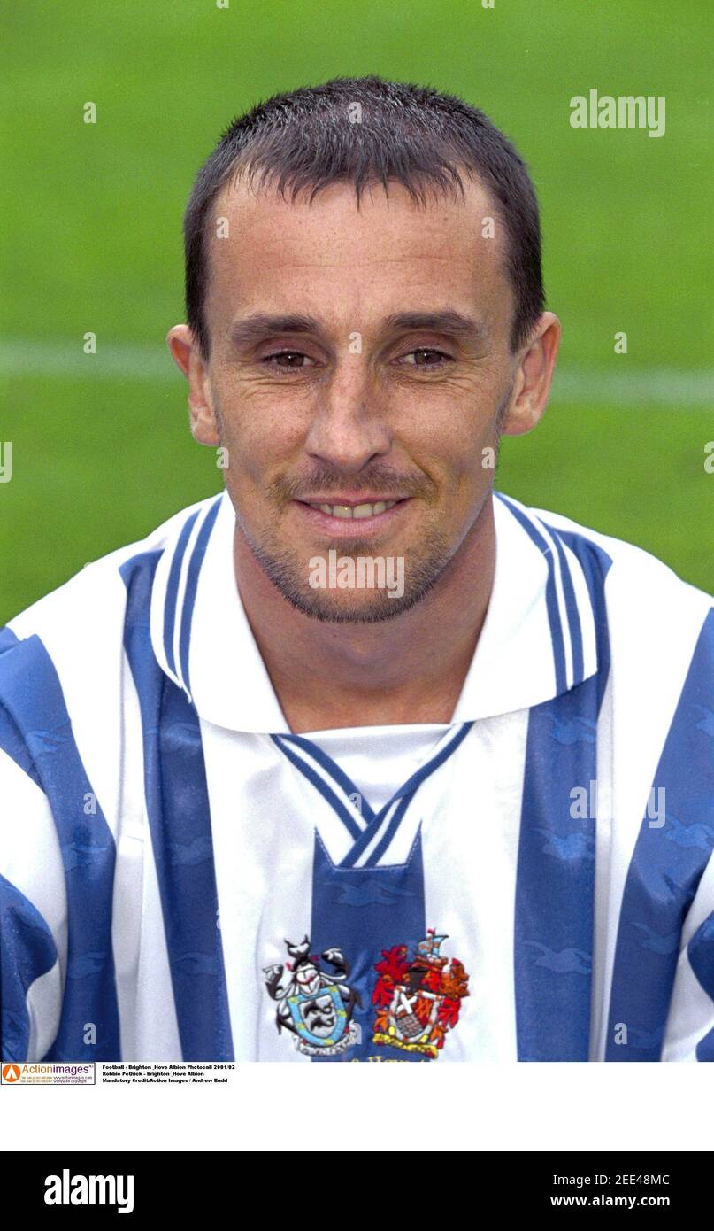 Football - Brighton & Hove Albion Photocall 2001/02 Robbie Pethick - Brighton & Hove Albion crédit obligatoire:action Images / Andrew Budd Banque D'Images