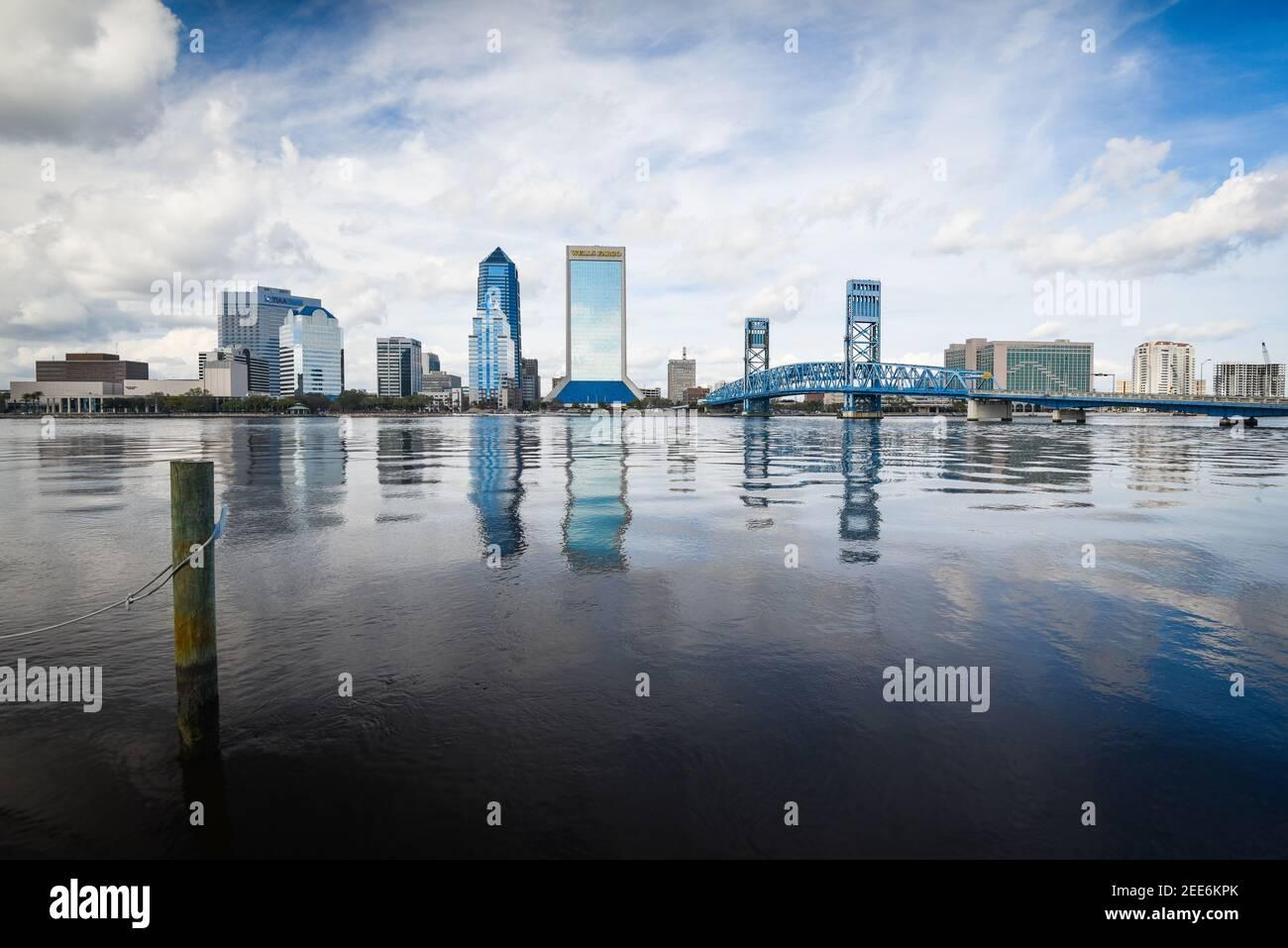 Belle ville de Jacksonville en Floride, États-Unis Banque D'Images