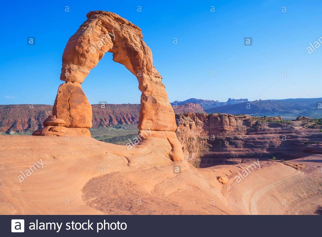 Delicate Arch, parc national d'Arches, Moab, Utah, États-Unis d'Amérique, Banque D'Images