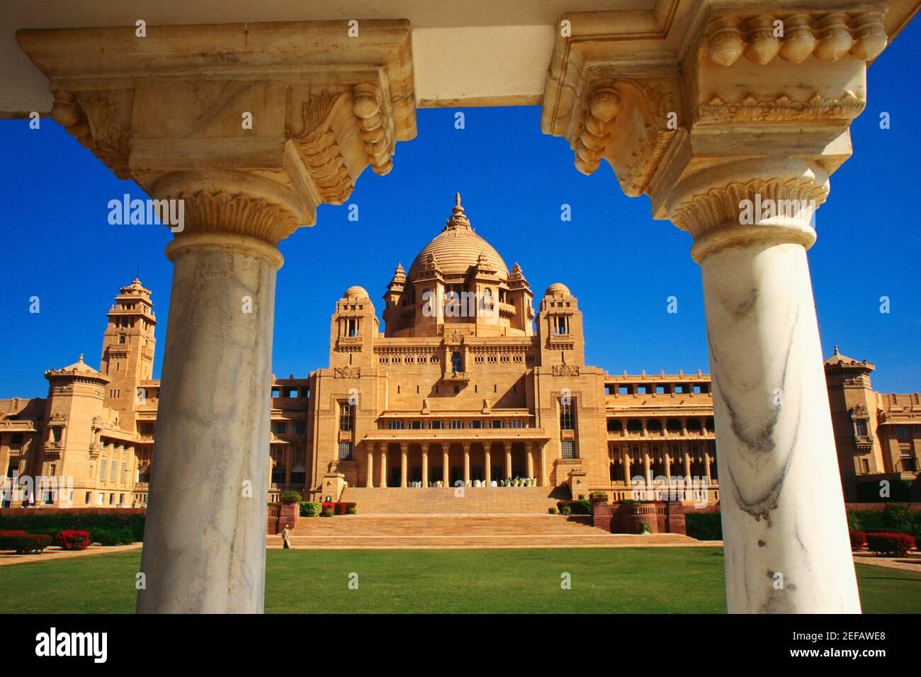 Façade d'un palais, palais de Limaid Bhawan, Jodhpur, Inde Banque D'Images