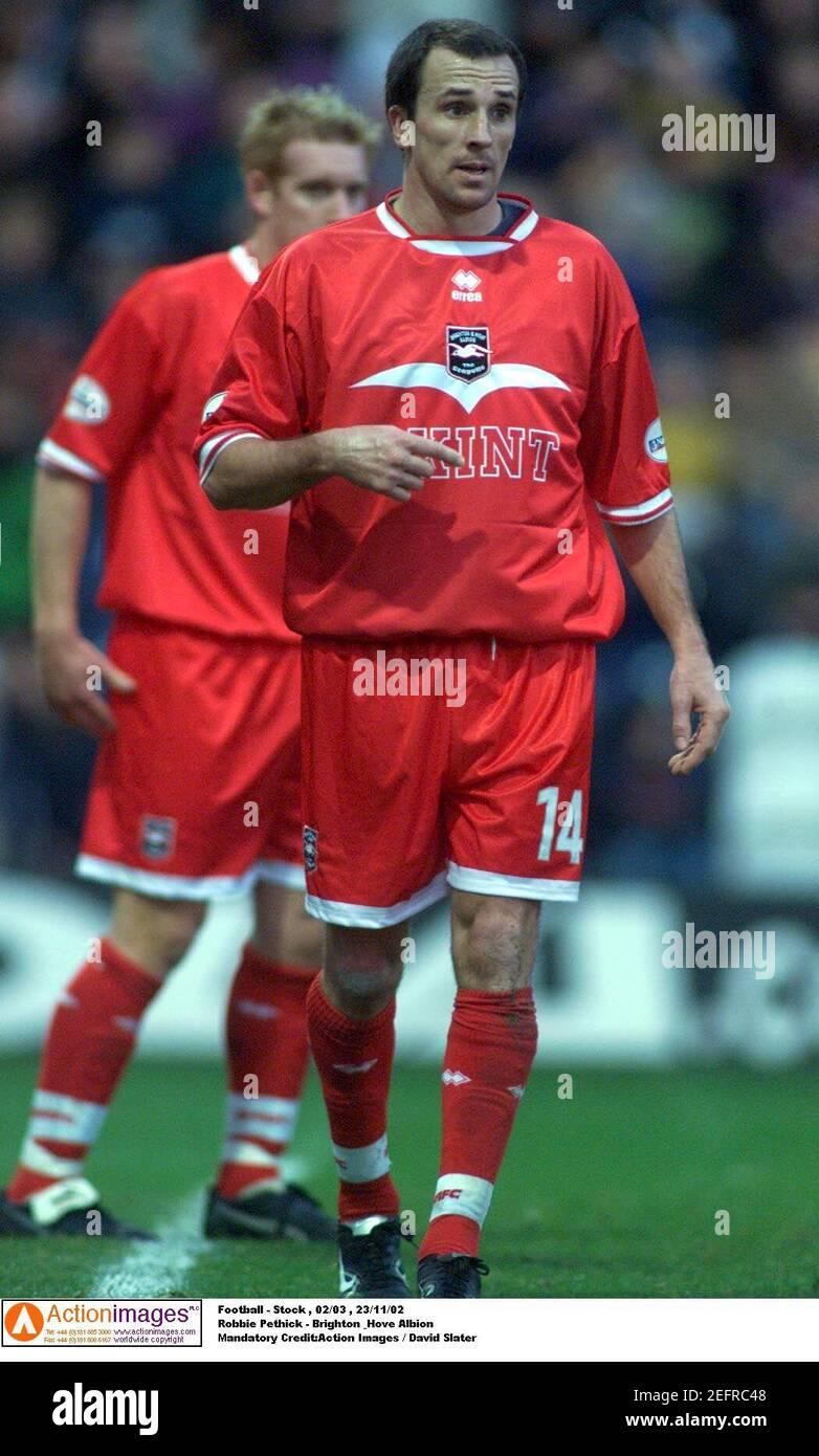 Football - stock , 02/03 , 23/11/02 Robbie Pethick - Brighton & Hove Albion crédit obligatoire:action Images / David Slater Banque D'Images