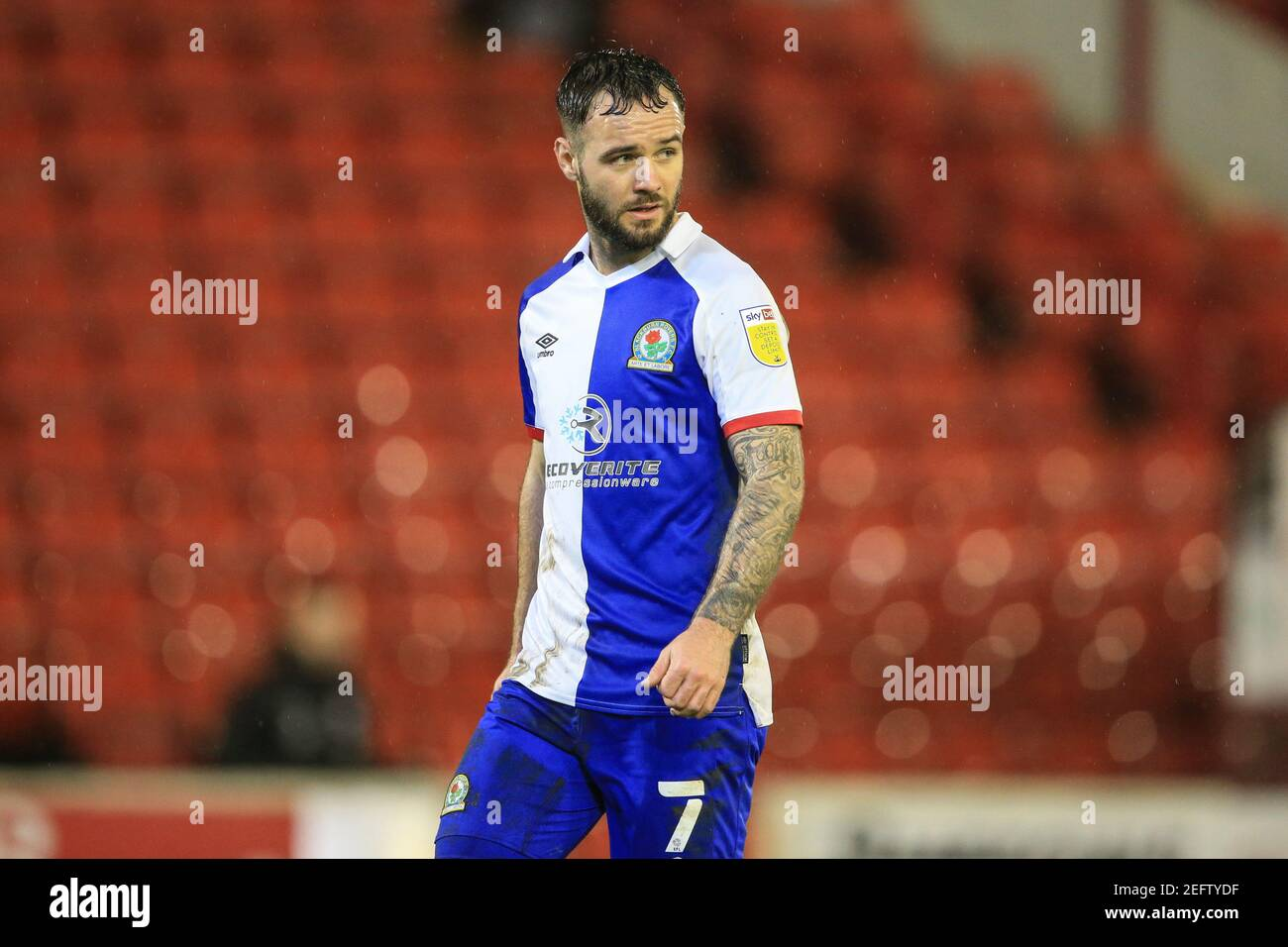 Barnsley, Royaume-Uni. 17 février 2021. Adam Armstrong #7 de Blackburn Rovers pendant le match à Barnsley, Royaume-Uni le 2/17/2021. (Photo de Mark Cosgrove/News Images/Sipa USA) crédit: SIPA USA/Alay Live News Banque D'Images