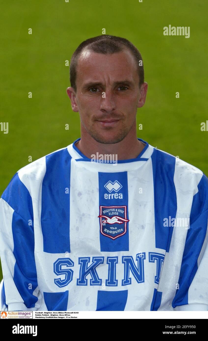 Football - Brighton & Hove Albion Photocall 02/03 Robbie Pethick - Brighton & Hove Albion crédit obligatoire:action Images / Alex Morton Banque D'Images