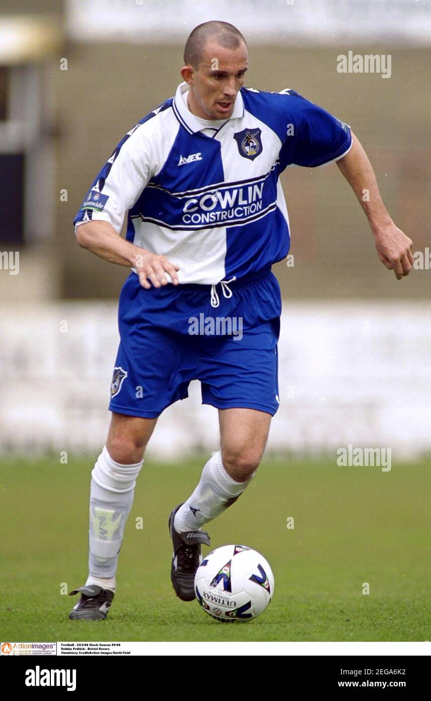 Football - 24/4/00 stock saison 99/00 Robbie Pethick - Bristol Crédit obligatoire de Rovers : champ Images d'action/David Banque D'Images