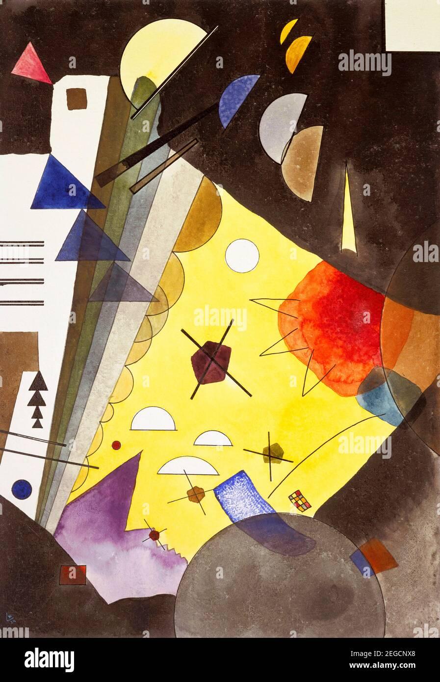 Peinture Kandinsky. 'Spannung nach oben' (tension en hauteur) par Wassily Kandinsky (1866-1944), graphite, encre et aquarelle sur papier, 1924 Banque D'Images
