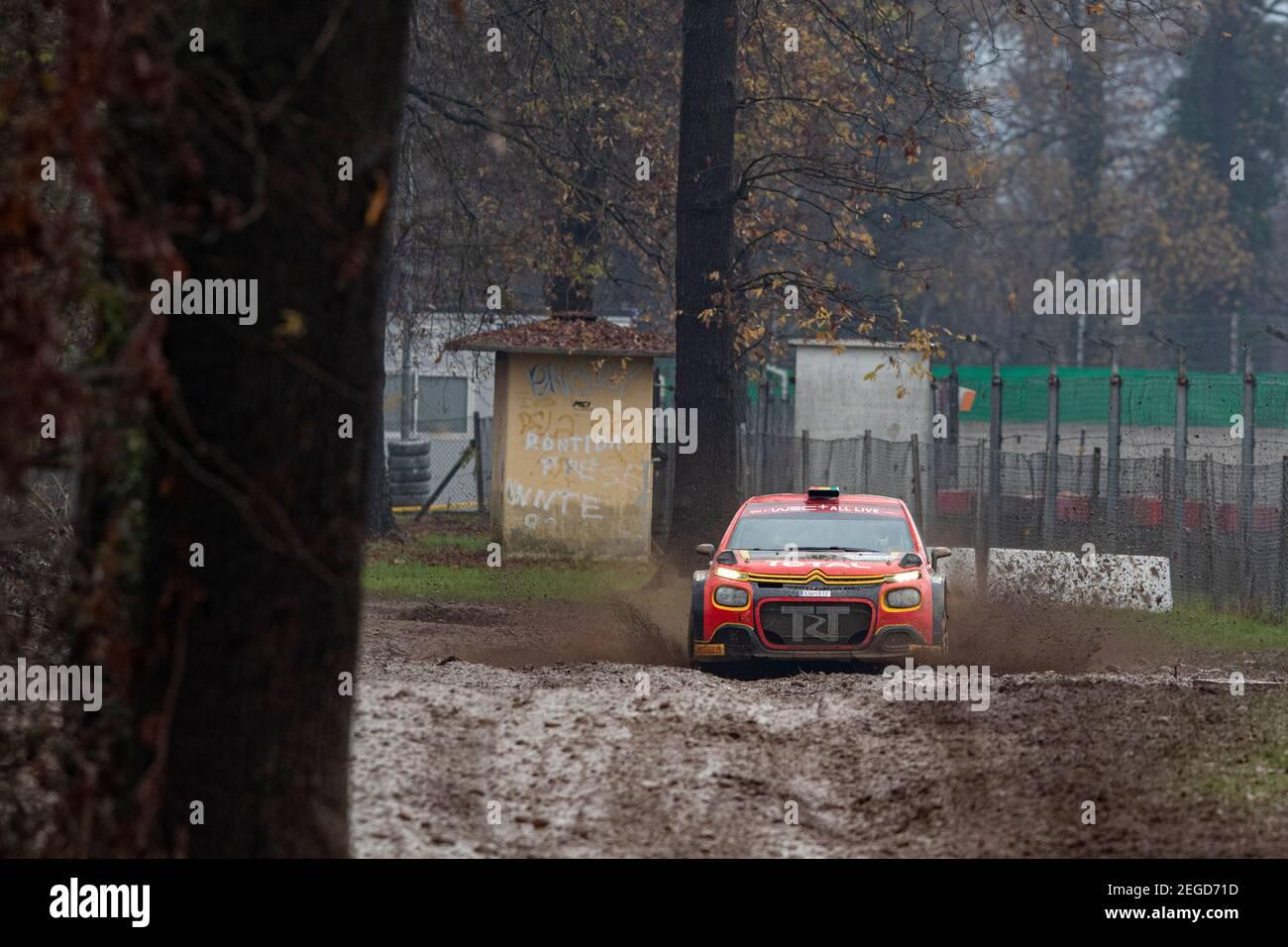 24 Marco BULACIA WILKINSON (bol), Marcelo DER OHANNESIAN (arg), CITROEN C3, WRC 3, action pendant le Rallye ACI Monza 2020, 7e tour du Championnat WRC 2020 de la FIA du 3 au 8 décembre 2020 à Monza, Brianza en Italie - photo Grégory Lénormand / DPPI Banque D'Images
