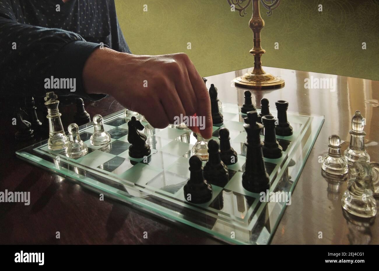 Jeu d'échecs, défi et compétition Banque D'Images