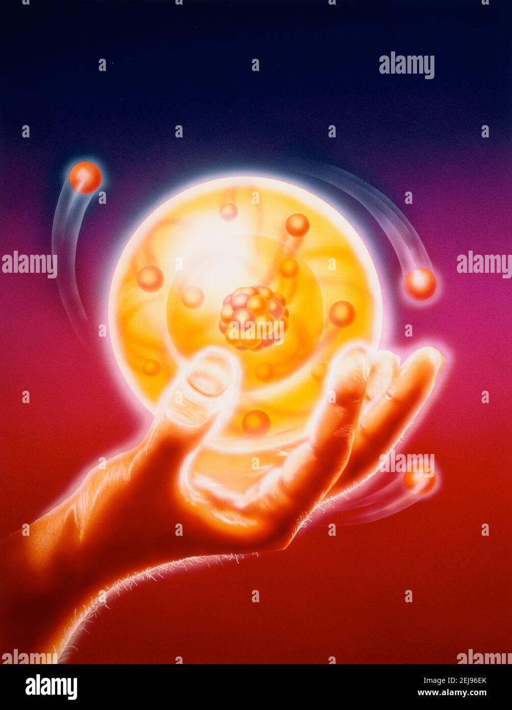 Atom, dessin Banque D'Images