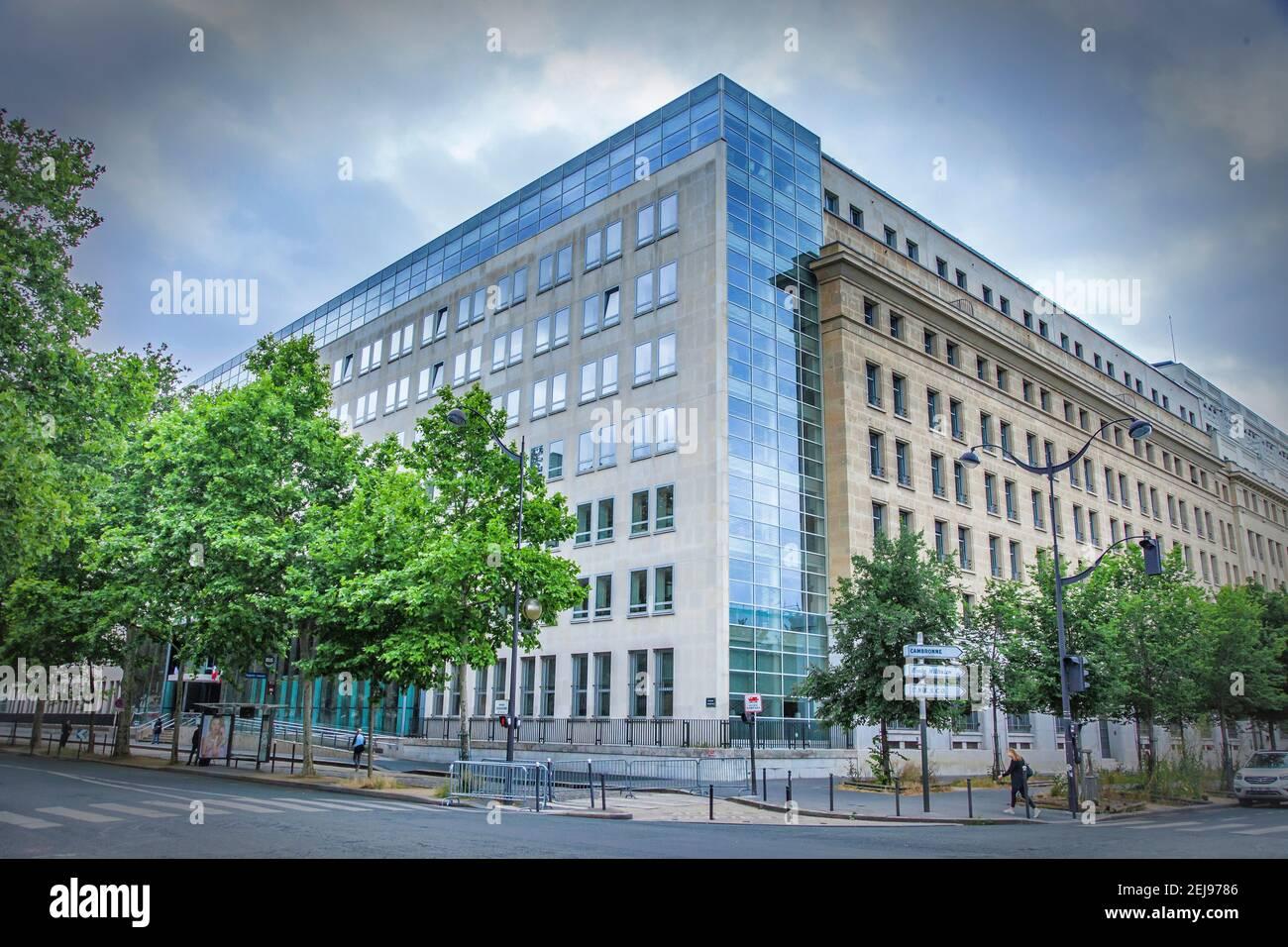 Ministère de la Santé et de la solidarité, paris Banque D'Images