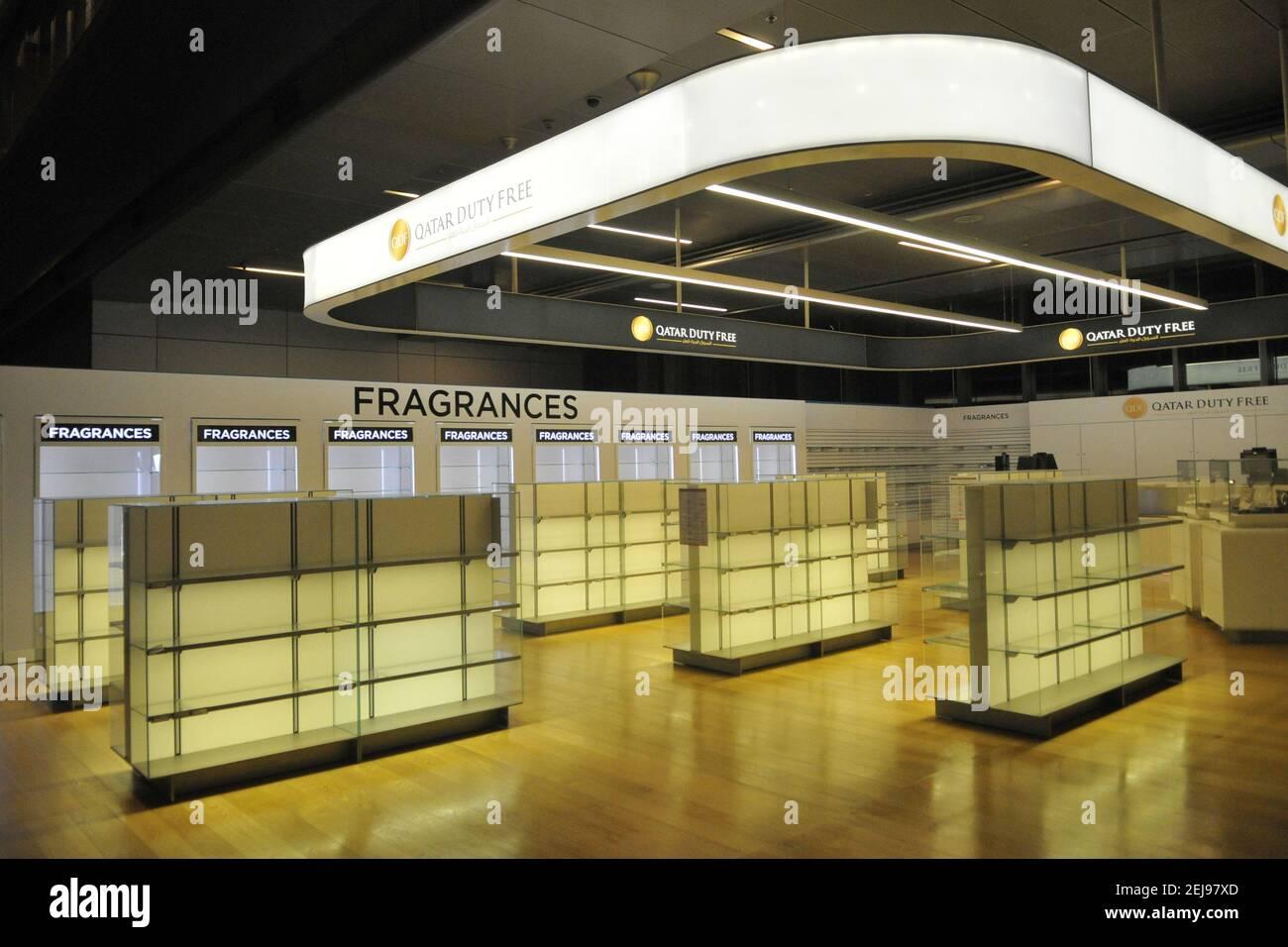 Aéroport de doha désert suite à l'arrêt d'activité au covid19 Banque D'Images