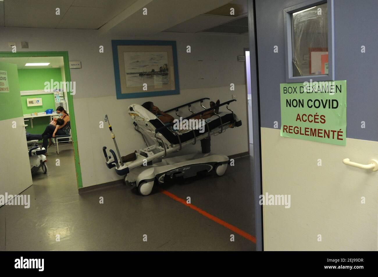 Service des urgences - samu 80 - Service d'abbeville de la somme (80) Banque D'Images