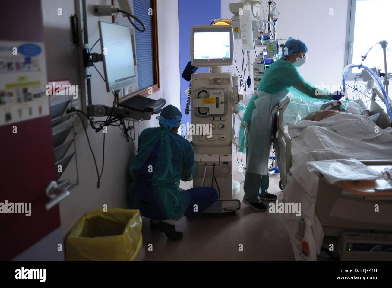Unité de soins intensifs médicaux Banque D'Images