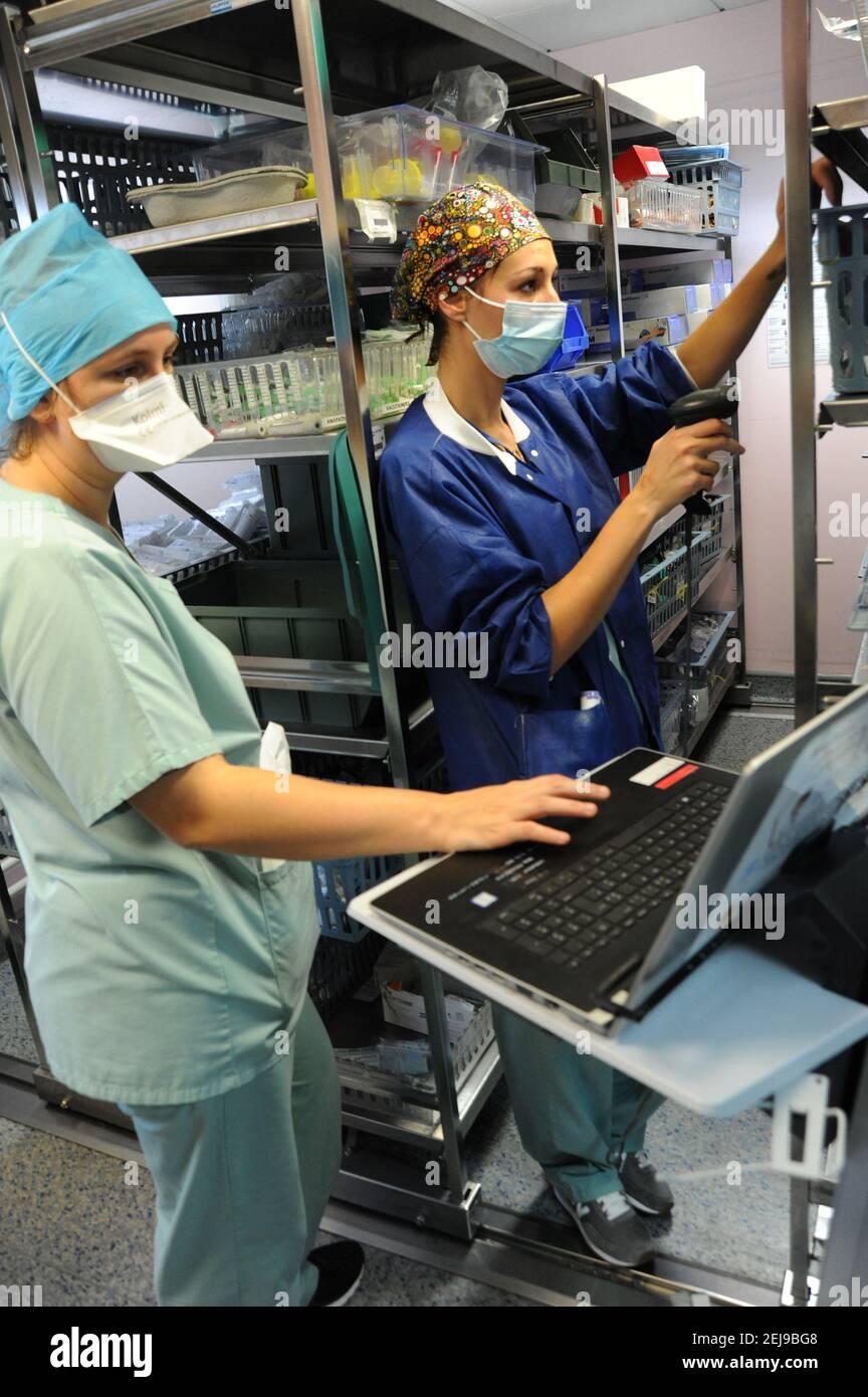 Unité de soins intensifs médicaux Covid-19 Banque D'Images