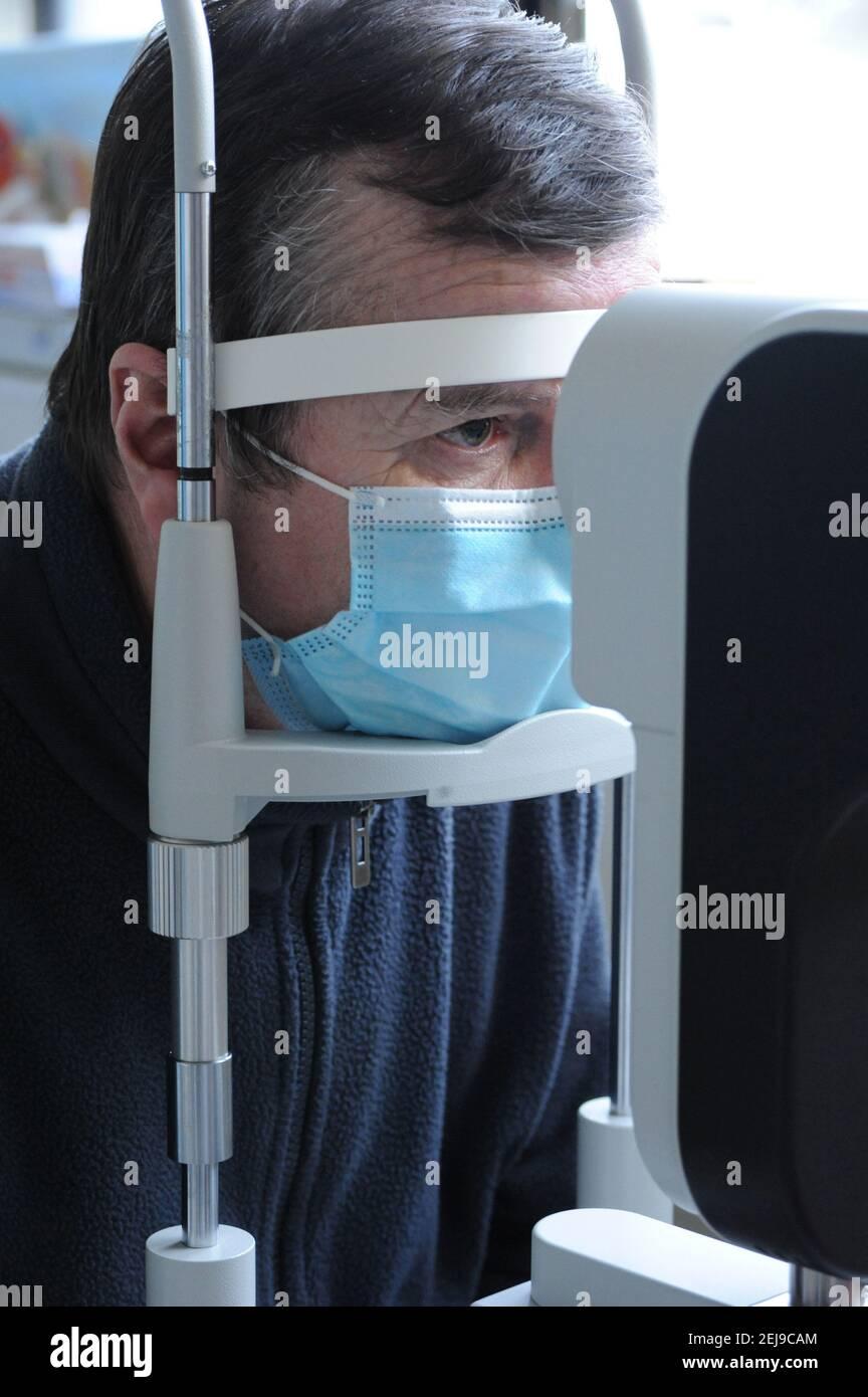 Chirurgie de la cataracte Banque D'Images