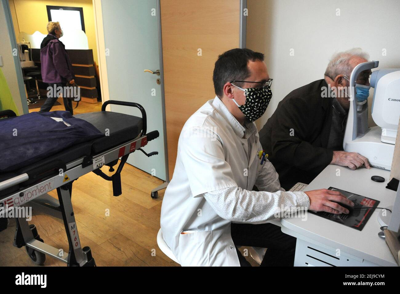 Bureau d'ophtalmologie Banque D'Images