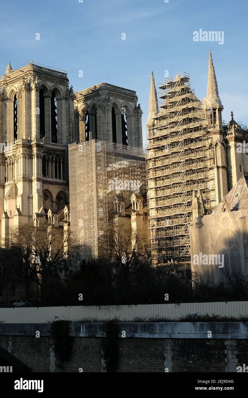 Restauration de la cathédrale notre-dame Banque D'Images