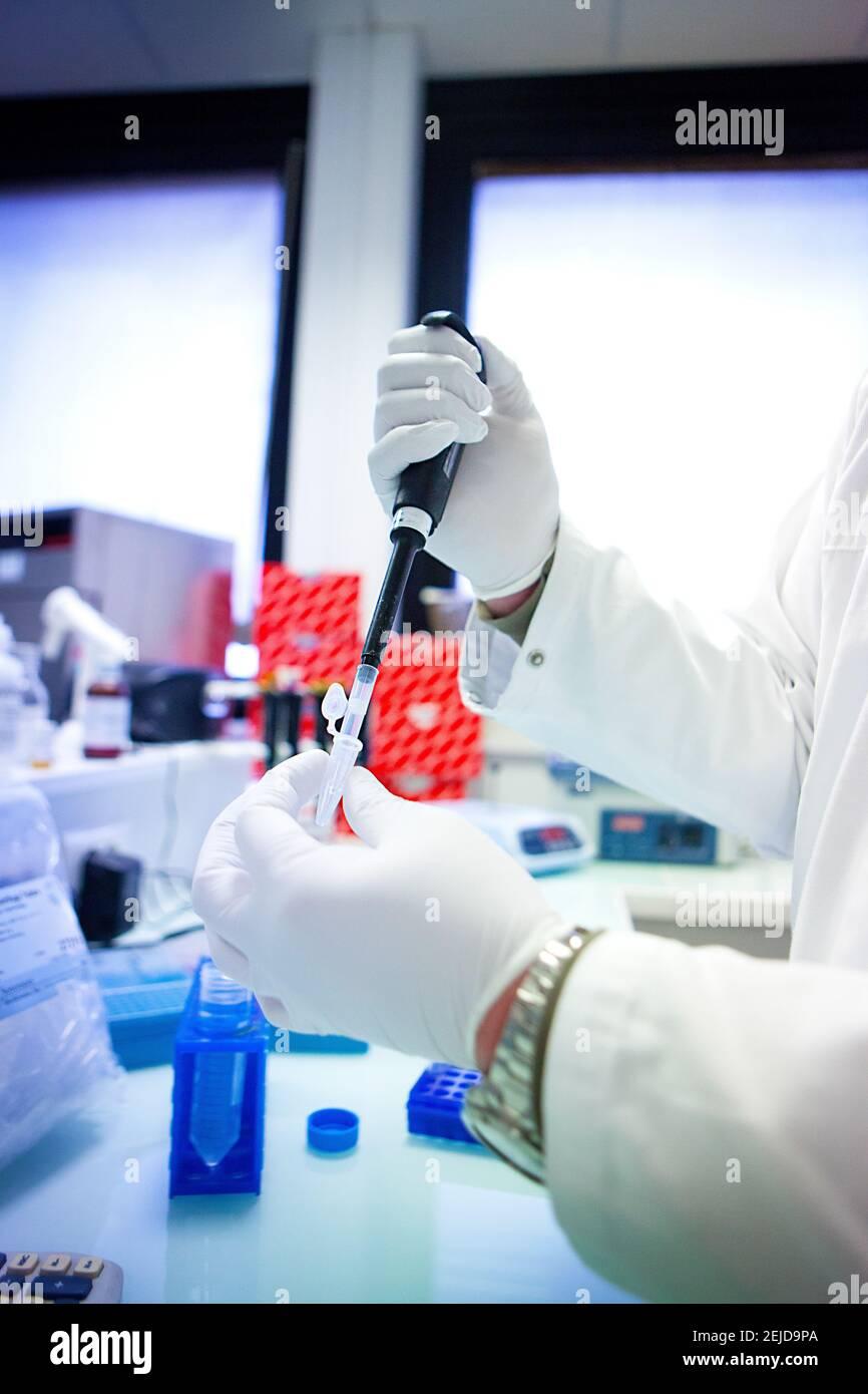 Laboratoire de recherche pour un vaccin contre le sida. Banque D'Images