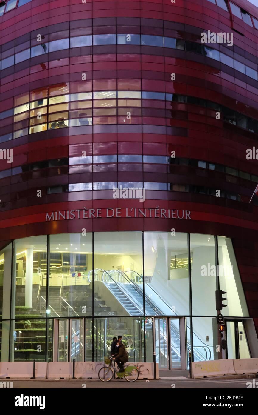 Bâtiment du Ministère français de l'intérieur à Paris Banque D'Images