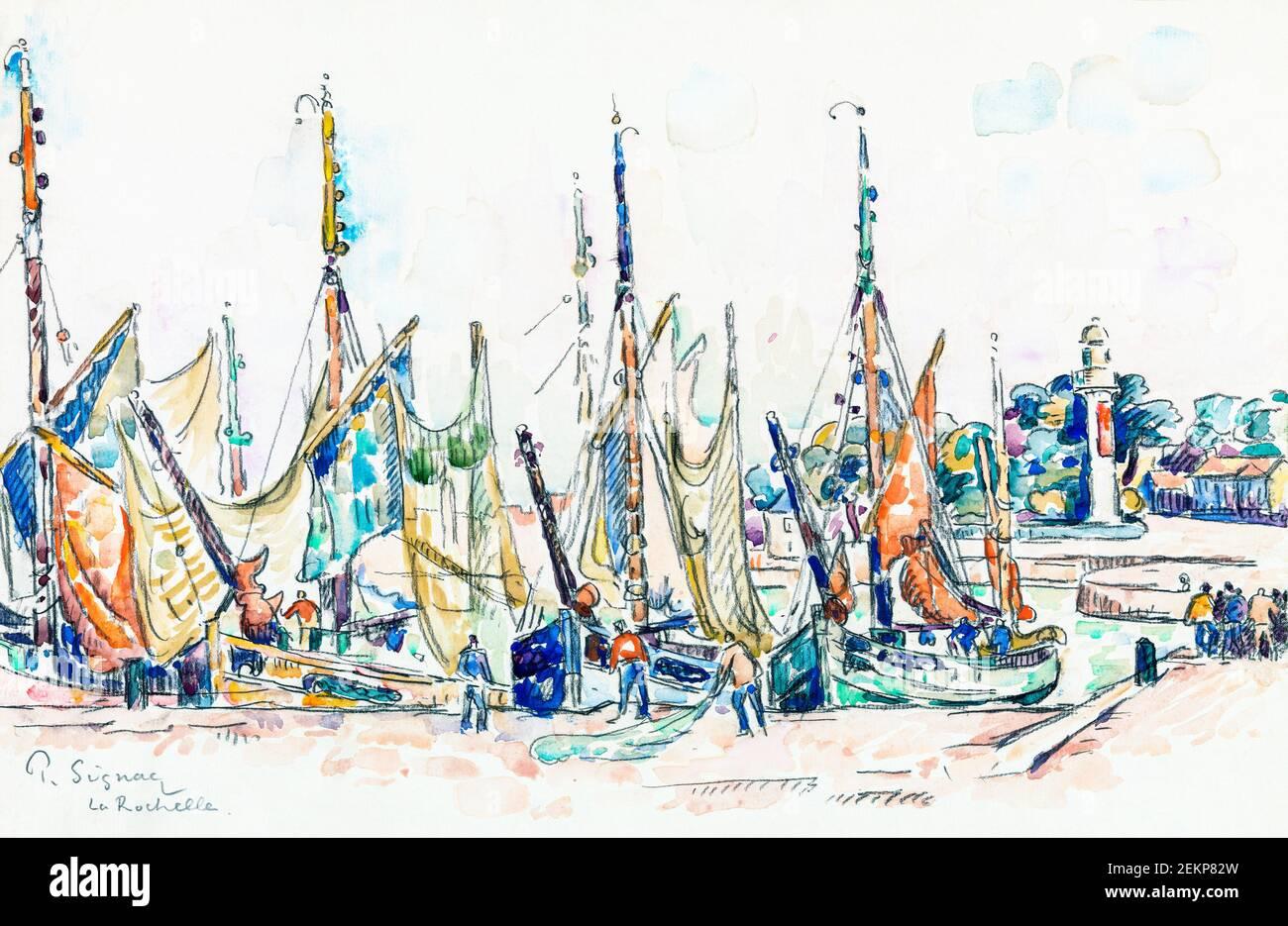 La Rochelle par Paul Signac Banque D'Images