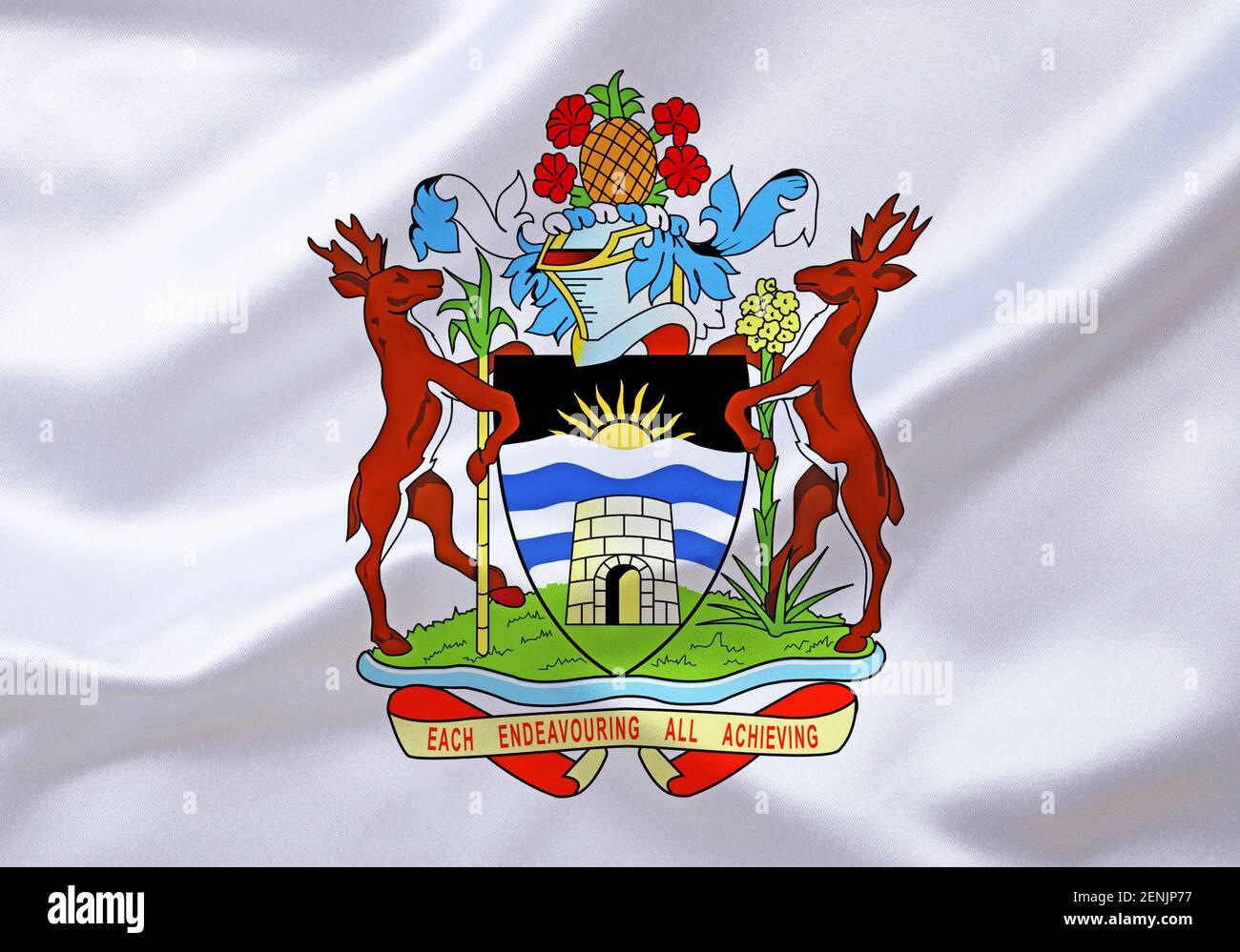DAS Wappen von Barbuda, Karibik, Kleine Antillen, Banque D'Images
