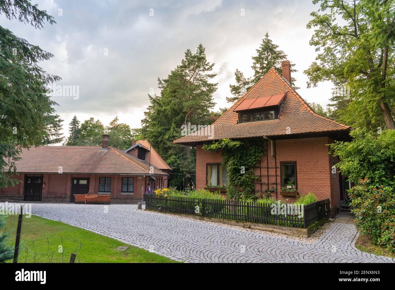 Juin 2020 Ondrejov, République Tchèque - anciens bâtiments d'observatoire Ondrejov, Tchéquie Banque D'Images