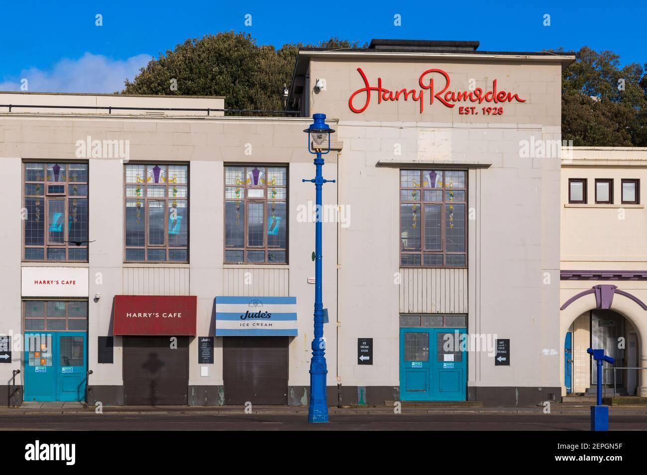 Harry Ramsdens à Bournemouth - le poisson le plus célèbre au monde Et jetons en février Banque D'Images