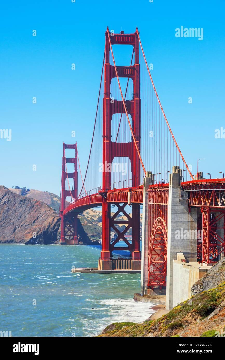 Vue sur le Golden Gate Bridge, San Francisco, Californie, États-Unis d'Amérique, Amérique du Nord Banque D'Images