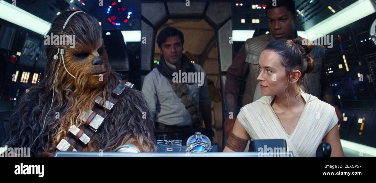 SUOTAMO,ISAAC,BOYEGA,RIDLEY, STAR WARS: THE RISE OF SKYWALKER, 2019 Banque D'Images