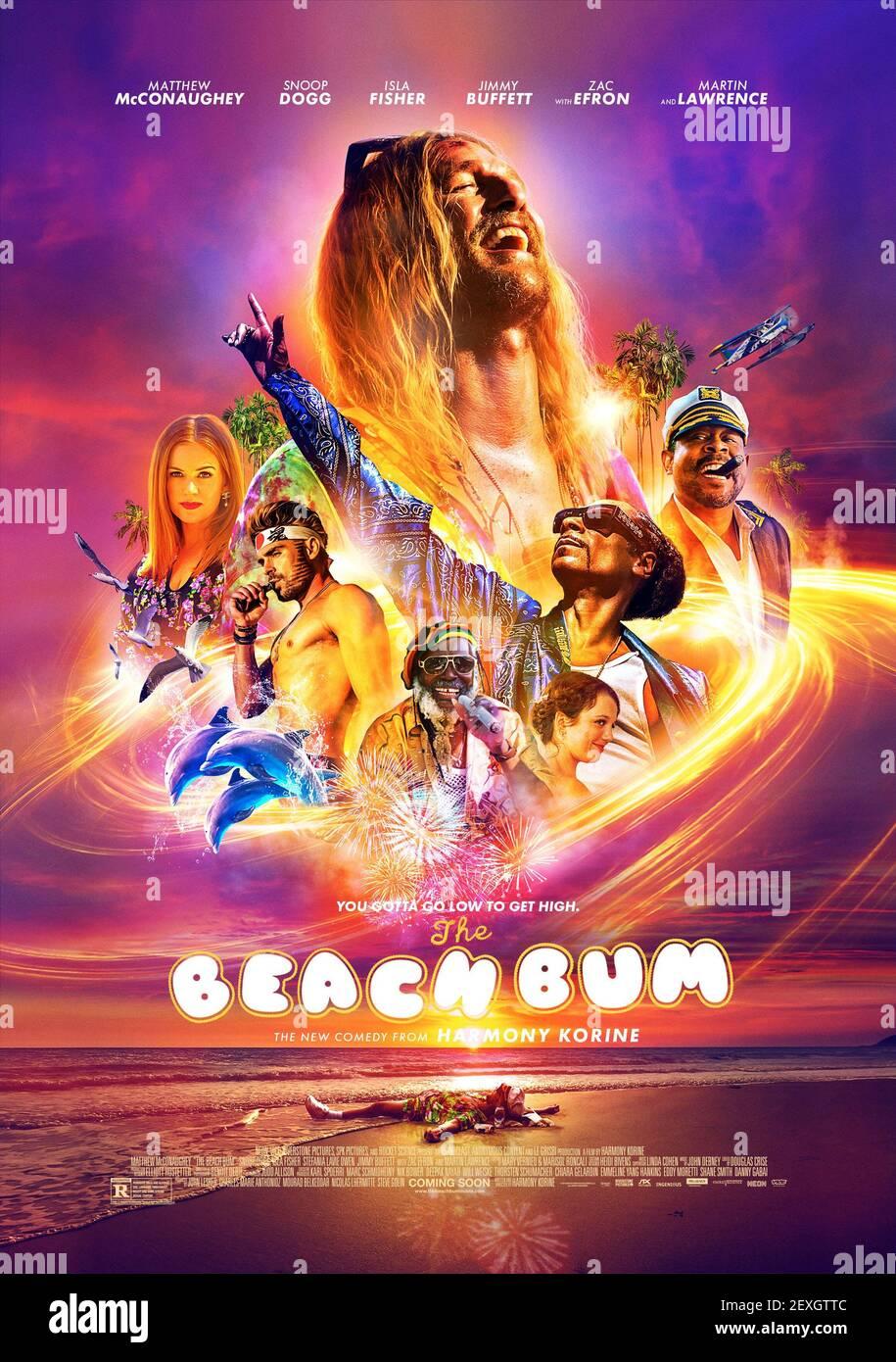 POSTER DE FILM, LE BEACH BUM, 2019 Banque D'Images