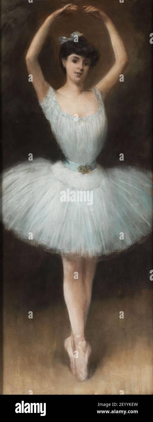 Pierre Carrier-Belleuse Die Balletttänzerin. Banque D'Images