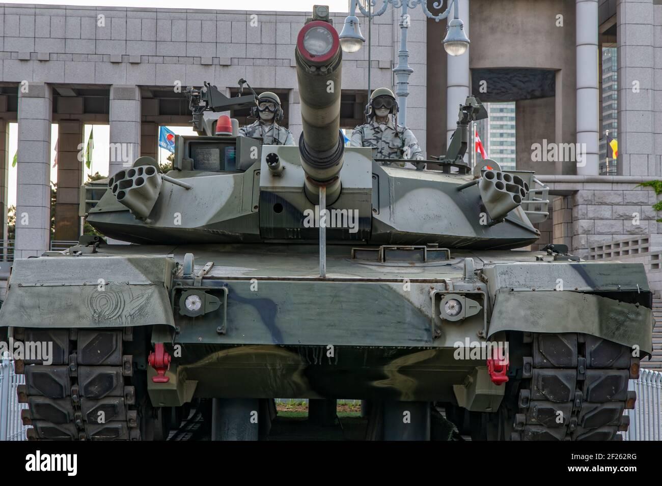 Séoul, Corée du Sud. 27 mai 2017. K-1 Tank au musée War Memorial of Korea. Banque D'Images