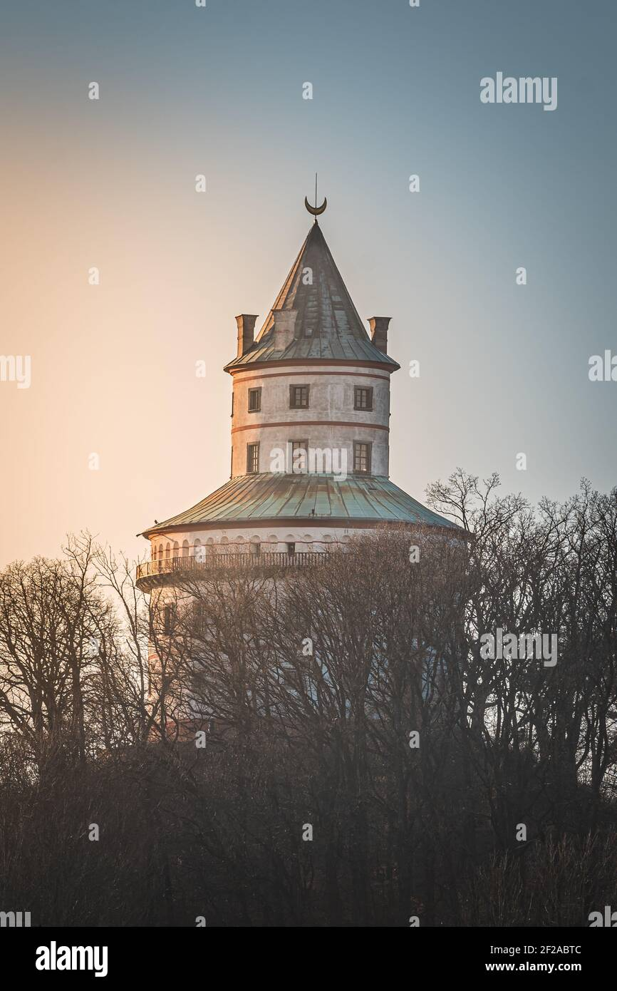 Sobotka - Château Humprecht. Château de chasse baroque et Renaissance Humprecht domine la région et l'un des symboles de la région appelée Banque D'Images