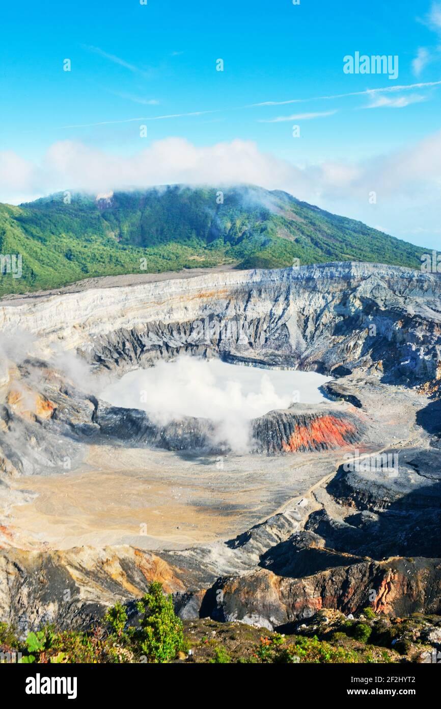 Volcan POA, Parc national Poas, Costa Rica, Amérique centrale Banque D'Images