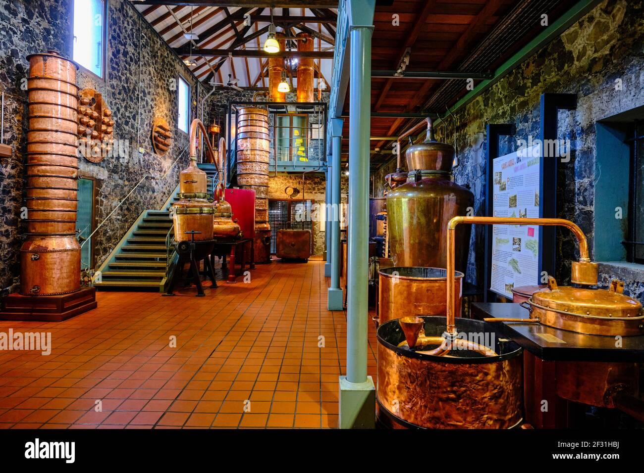 France, Antilles, Martinique, Sainte-Marie, distillerie Saint-James qui abrite un musée du rhum Banque D'Images