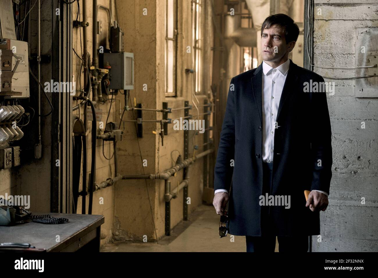 JAKE GYLLENHAAL, VELVET BUZZSAW, 2019, ©CLAUDETTE BARIUS/NETFLIX Banque D'Images