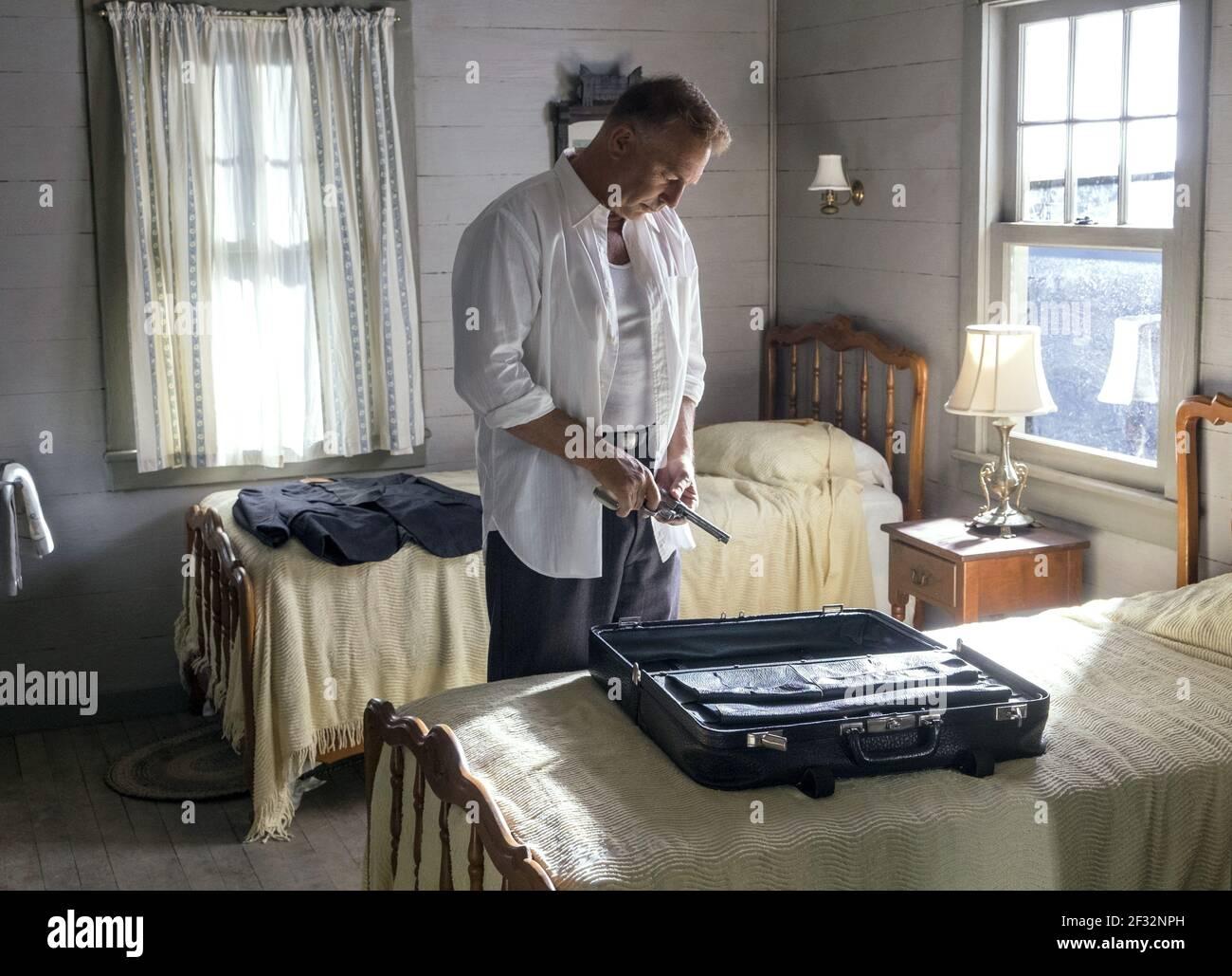 KEVIN COSTNER, THE HIGHWAYMEN, 2019, ©MERRICK MORTON/NETFLIX Banque D'Images