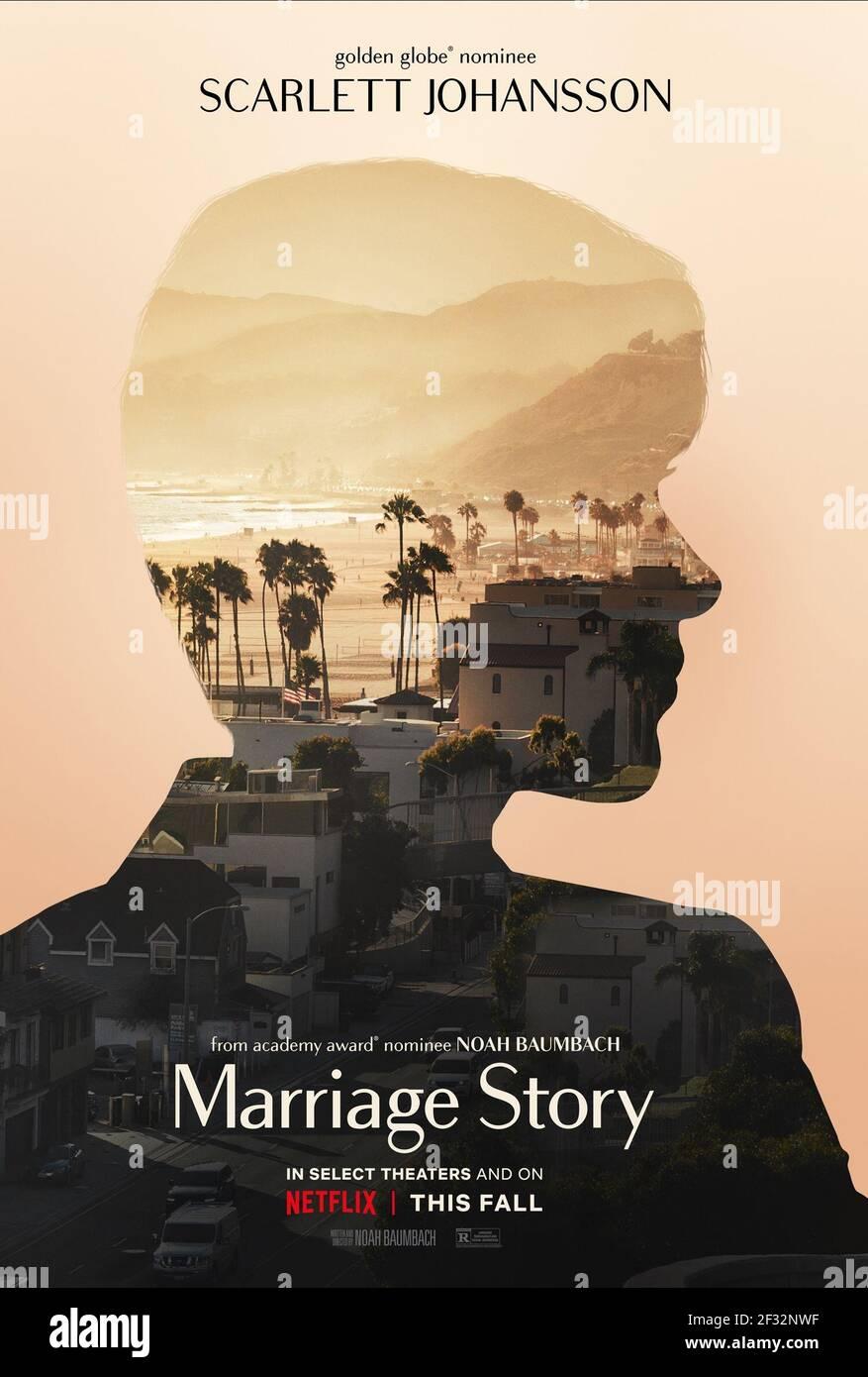 POSTER DE FILM, HISTOIRE DE MARIAGE, 2019, ©NETFLIX Banque D'Images