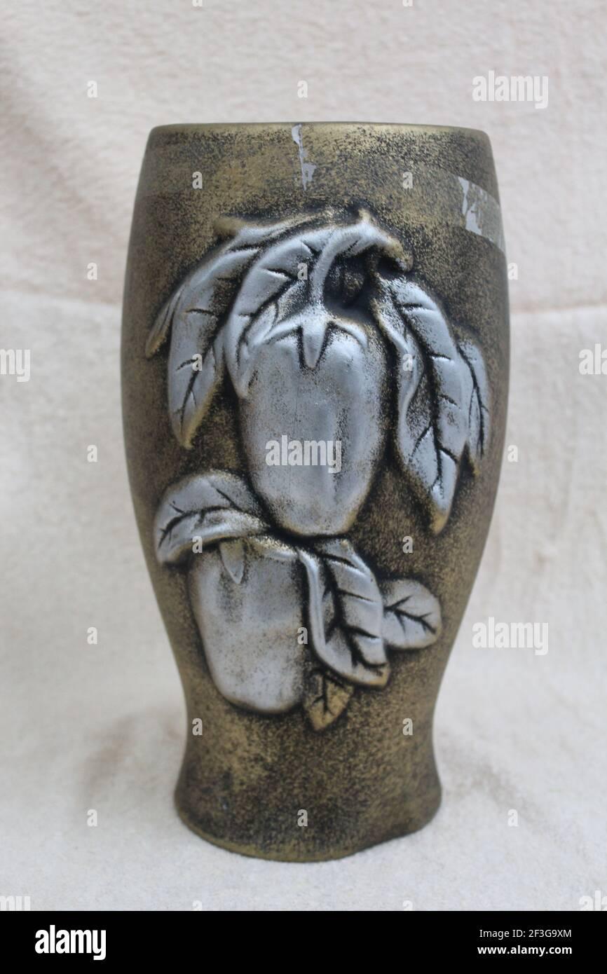 Vase chinois aux fruits Banque D'Images