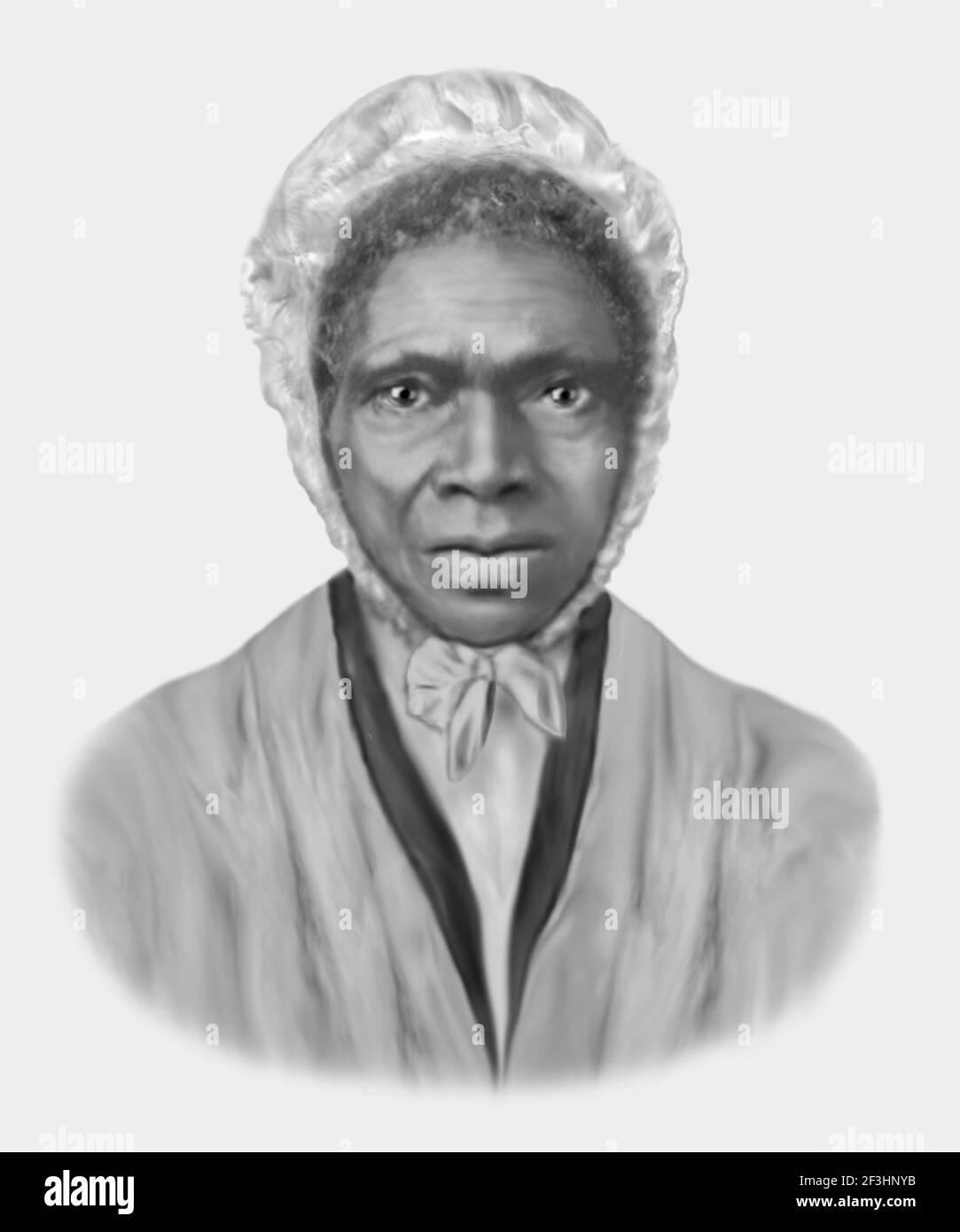 Sojourner Truth 1797-1883 militante des droits des femmes abolitionnistes d'Amérique Banque D'Images