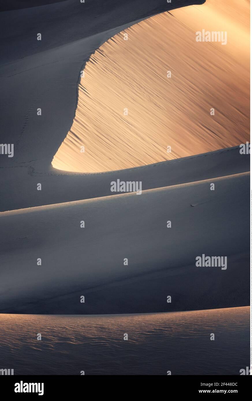 Géographie / voyage, Etats-Unis, Californie, Vallée de la mort, Mesquite Dunes, Été, droits supplémentaires-autorisation-Info-non-disponible Banque D'Images
