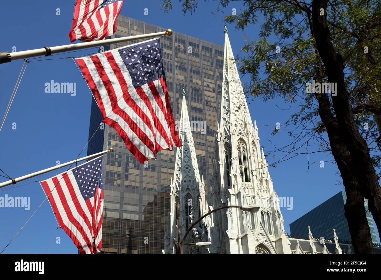 Géographie / voyage, Etats-Unis, New York, New York, Cathédrale St Patrick, Midtown Manhattan, New York C, droits supplémentaires-autorisations-Info-non-disponible Banque D'Images