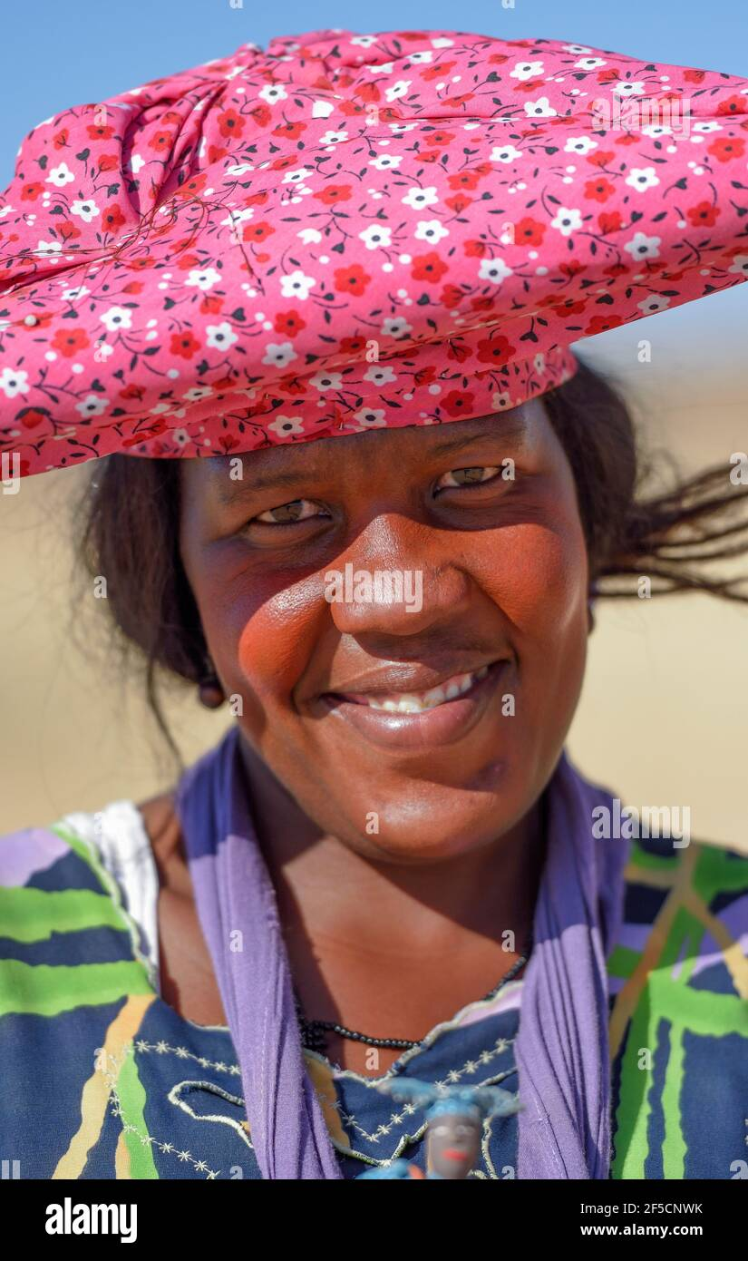Géographie / Voyage, Namibie, portrait d'un Herero-Frau, à Khorixas, région de Kunene, Additional-Rights-Clearance-Info-not-available Banque D'Images